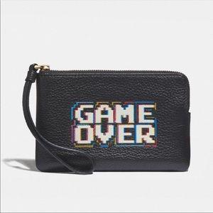 Coach x Pac Man Game Over Wristlet